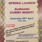 Spring Launch – Authentic Curry Night, 29 April