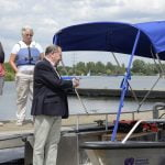 The Papercourt Wheelyboat is Launched